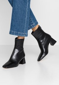 Topshop - BREEZE SQUARE TOE  - Classic ankle boots - black - 0