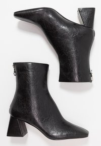 Topshop - BREEZE SQUARE TOE  - Stivaletti - black - 3