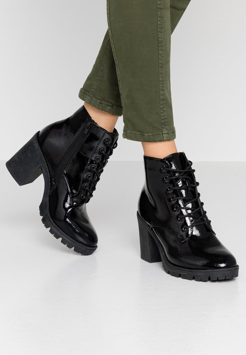 Topshop - BALTIMORE LACE UP - Ankle boot - black