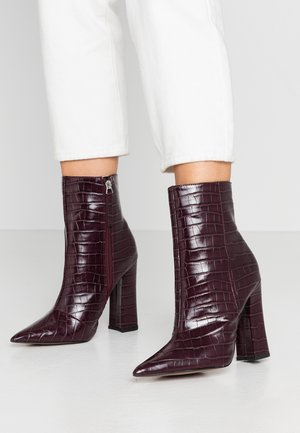 HARRI POINT BOOT - High heeled ankle boots - bordeaux