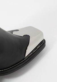 Topshop - MARSHAL WESTERN BOOT - Kovbojské/motorkářské boty - black - 2