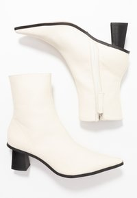 Topshop - MAILE POINT BOOT - Classic ankle boots - white - 3