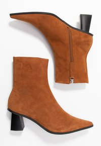 Topshop - MAILE POINT BOOT - Classic ankle boots - tan - 3