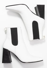 Topshop - HARBOUR CHELSEA - High heeled ankle boots - white - 3
