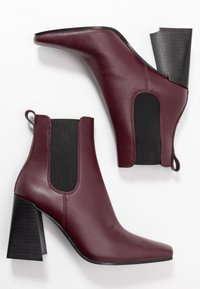 Topshop - HARBOUR CHELSEA - High heeled ankle boots - burgundy - 3