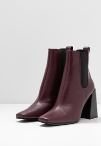 Topshop - HARBOUR CHELSEA - High heeled ankle boots - burgundy - 4