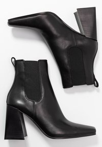 Topshop - HARBOUR CHELSEA - High heeled ankle boots - black - 3
