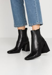 Topshop - HARBOUR CHELSEA - High heeled ankle boots - black - 0