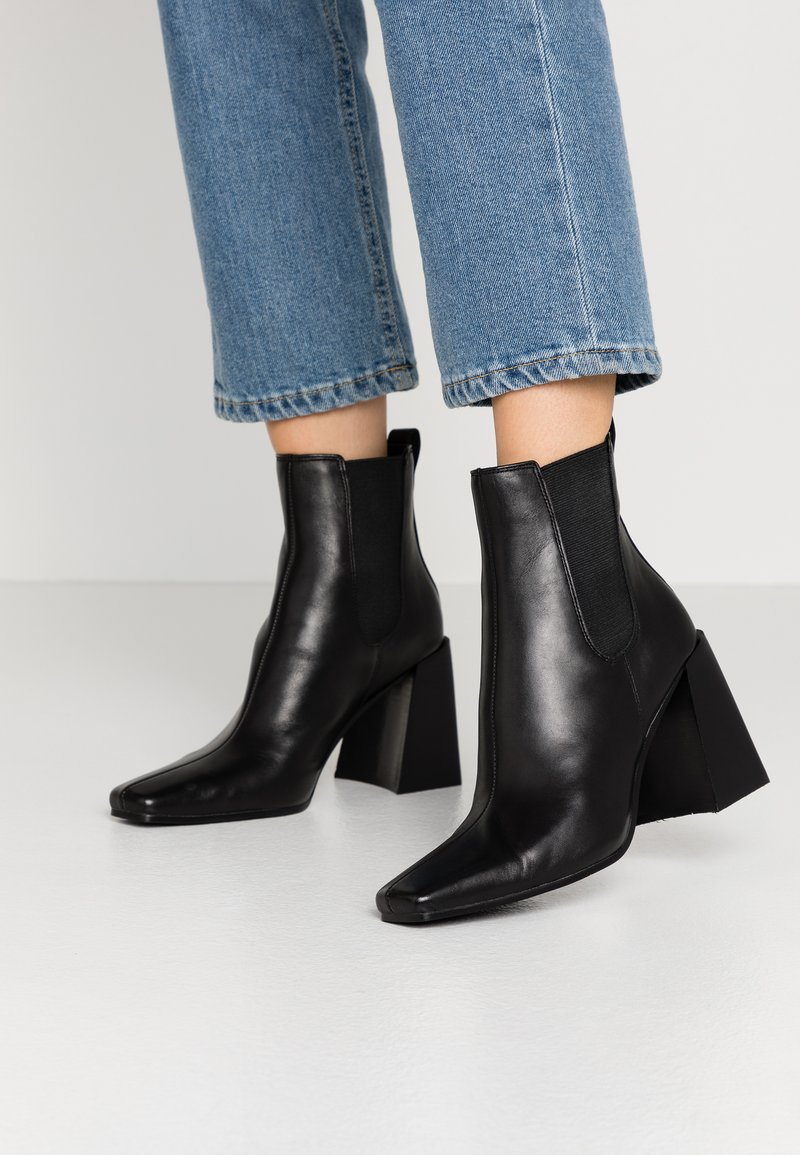 Topshop - HARBOUR CHELSEA - High heeled ankle boots - black