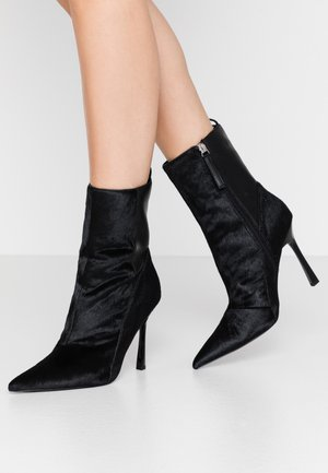 HOLLY POINT BOOT - High heeled ankle boots - black