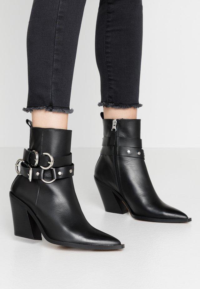 HADRIA WESTERN - Cowboy- / bikerstøvlette - black