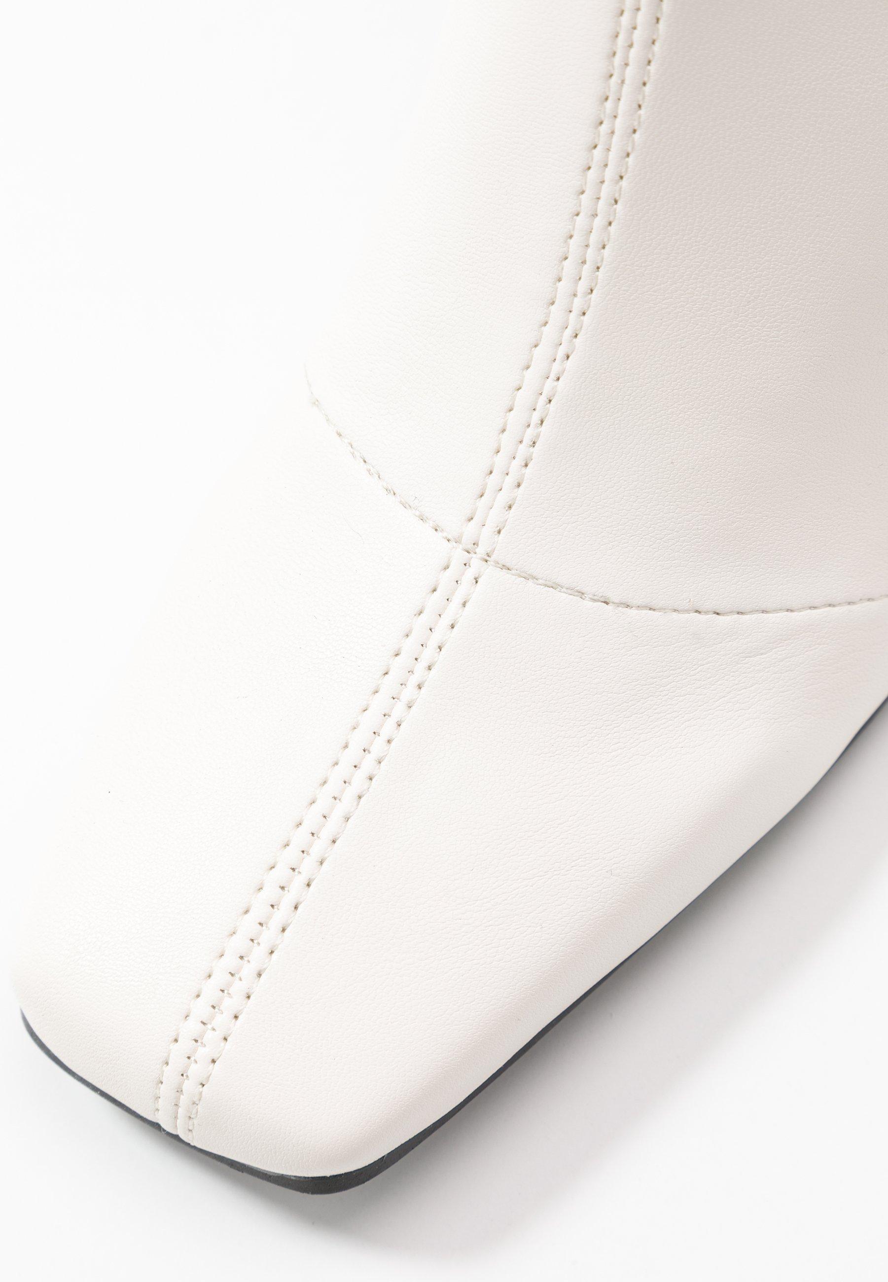 Topshop HAMMOND SOCK BOOT - Bottines à talons hauts - buttermilk