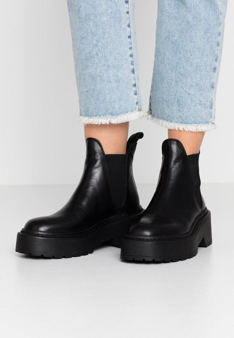 Topshop - AIDEN  - Korte laarzen - black