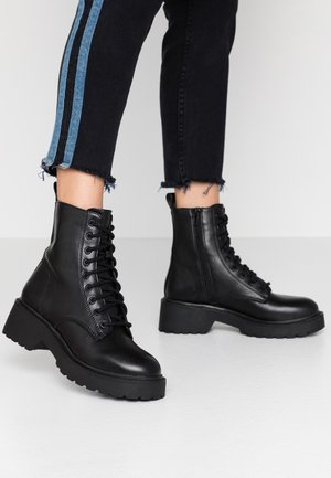 KACY LACE UP BOOT - Platform ankle boots - black