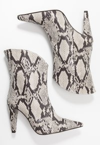 Topshop - VEGAN VILLA BOOT - High heeled ankle boots - natural - 3
