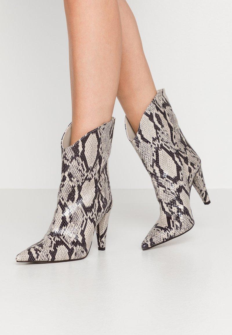 Topshop - VEGAN VILLA BOOT - High heeled ankle boots - natural