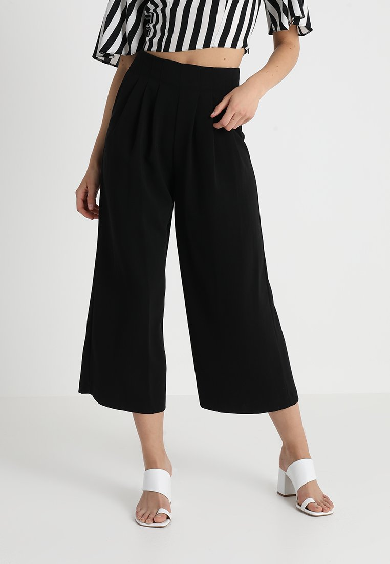 Topshop - IVY WIDE - Trousers - black
