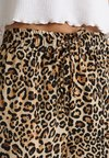 Topshop - ANIMAL TRACK PANT - Pantalones - brown