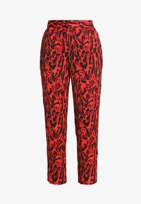 Topshop - LEOPARD SUIT TROUSERS - Tygbyxor - red - 3
