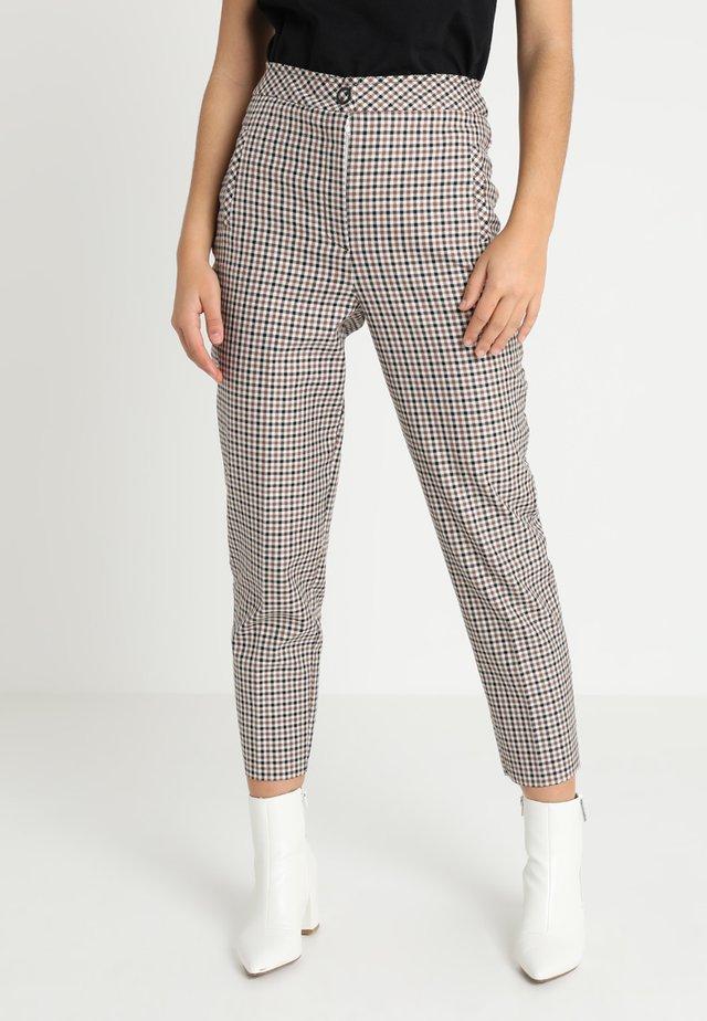 BONDED CHECK TAPERED - Pantalones - multi