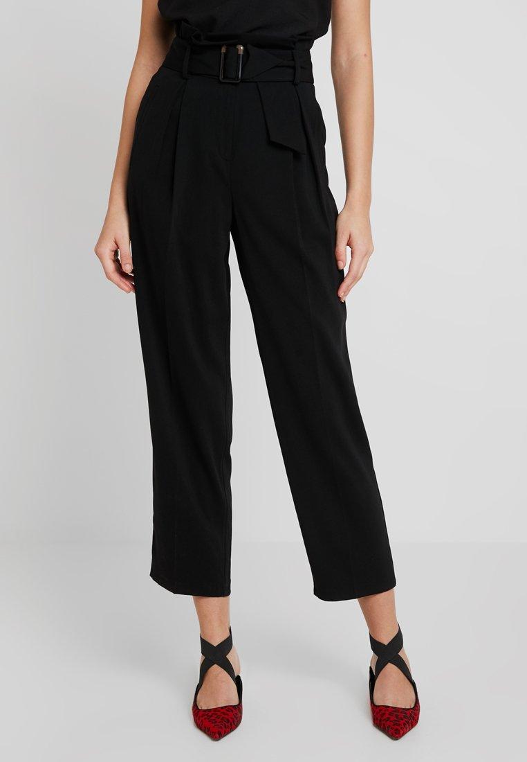 Topshop - BELT PEG - Trousers - black