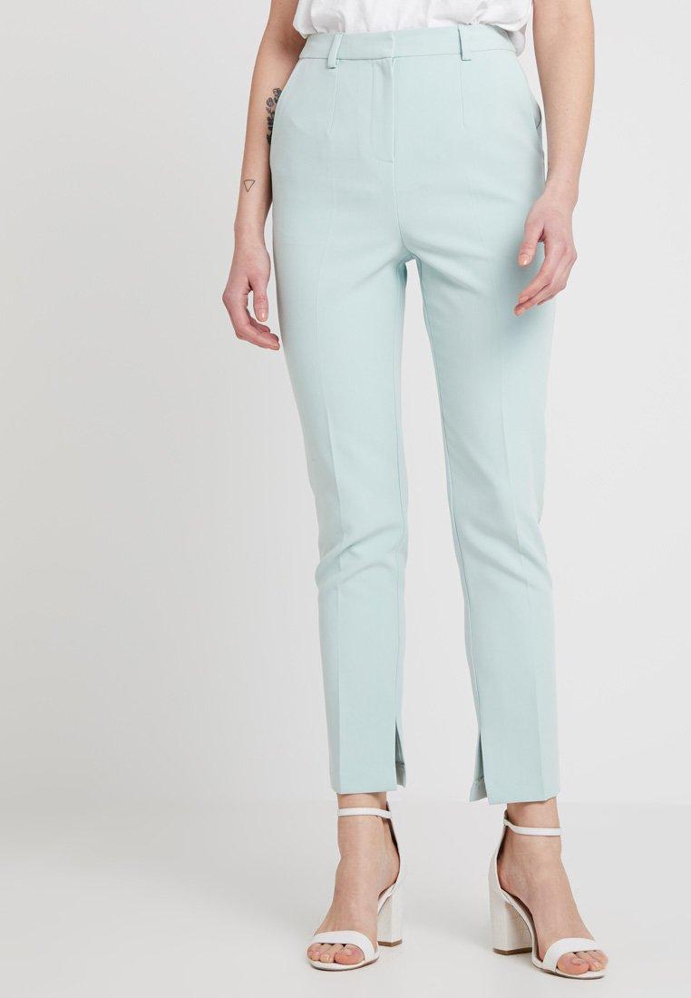 Topshop - SPLIT - Trousers - pistachio
