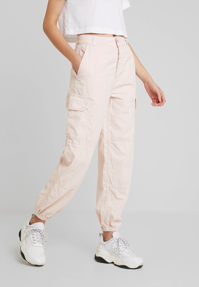 Topshop - TOMMY UTILITY - Trousers - pink