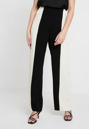 SASHA - Pantalon classique - black/white