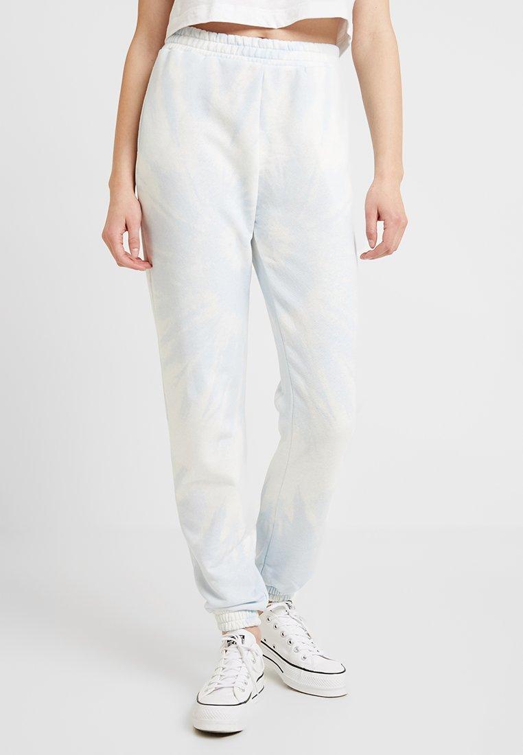 Topshop - TIE DYE JOGGER - Teplákové kalhoty - blue