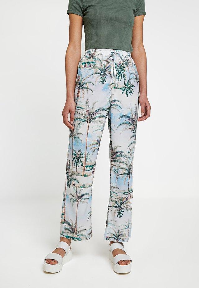 HAWAIIAN WIDE LEG - Pantaloni - blue