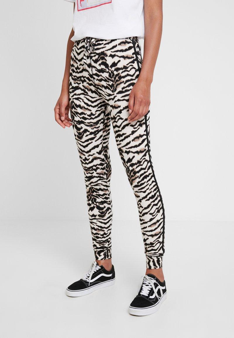 Topshop - TIGER JEGGER - Legging - black/white