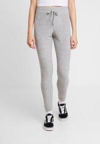 Topshop - TOWELLING JEGGER - Teplákové kalhoty - grey - 0