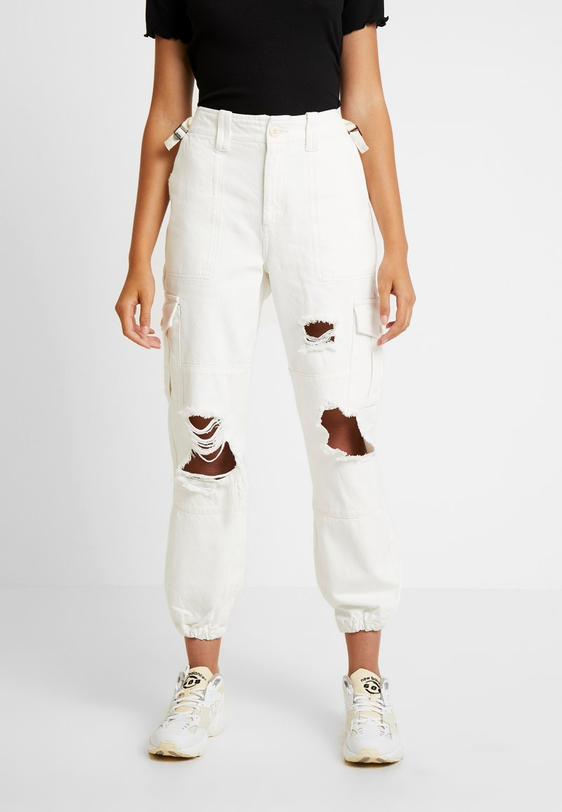 Topshop - REMI UTILITY - Jeans baggy - off white