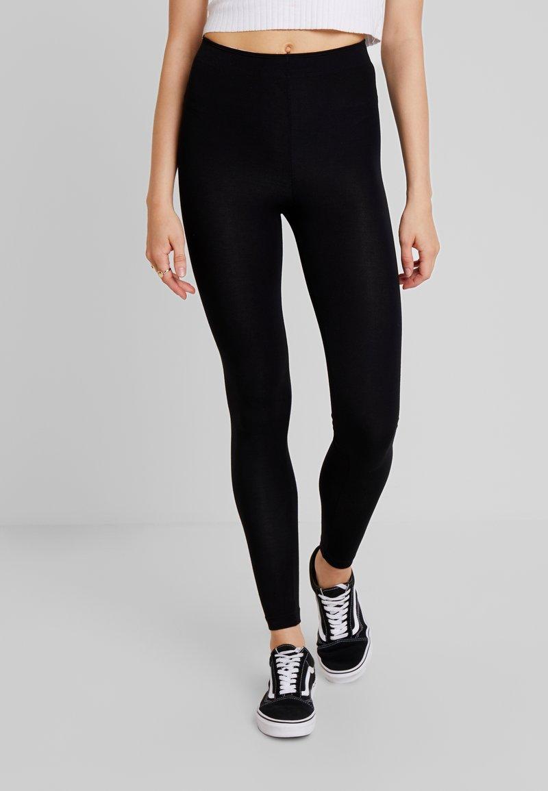 Topshop - BOLD ELASTIC - Leggings - Hosen - black