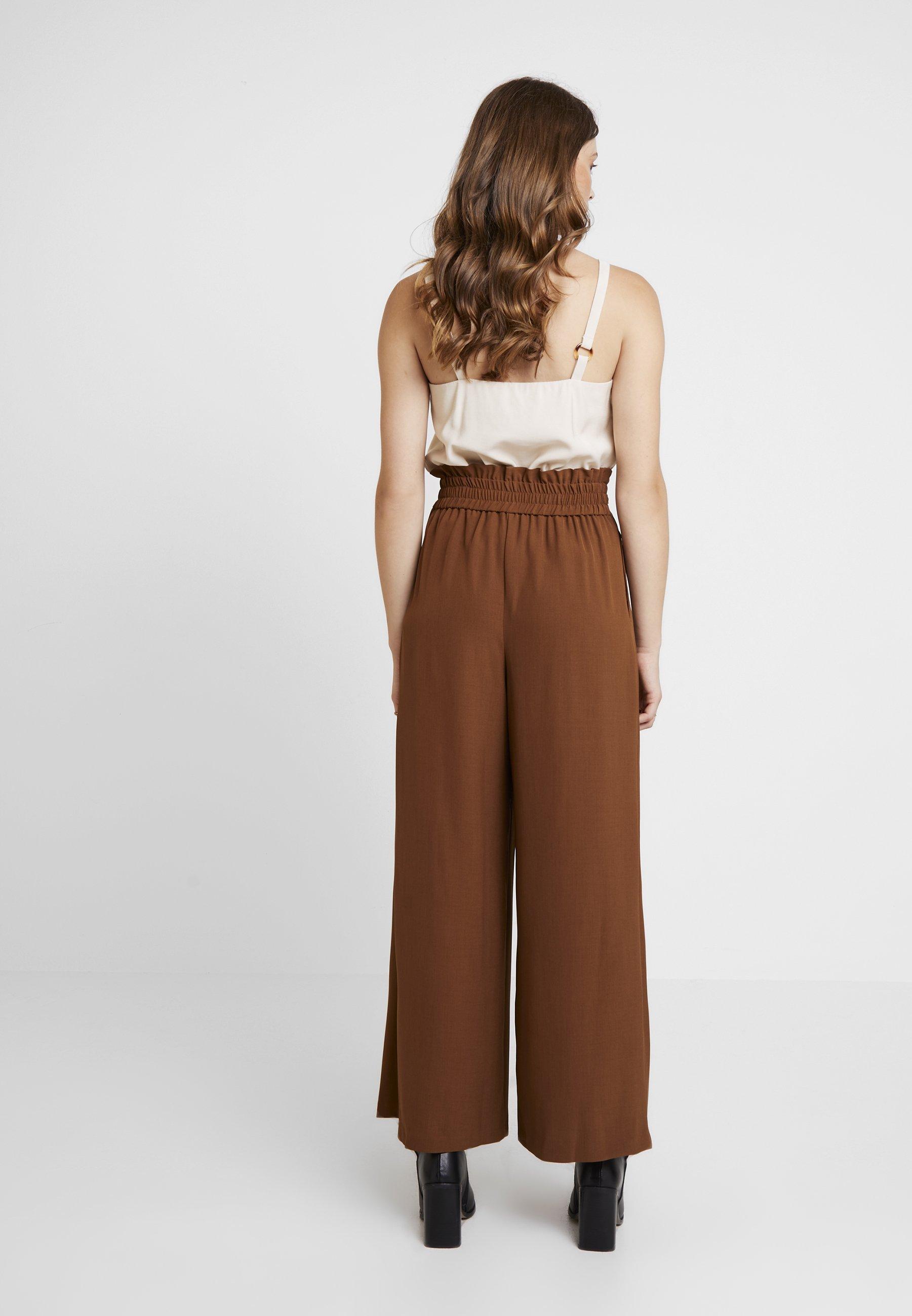 Topshop Jingle Classique TrouserPantalon Wide Brown R34cAL5jq