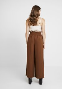 Topshop - JINGLE WIDE TROUSER - Trousers - brown - 3