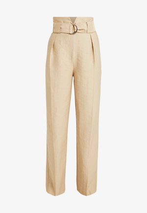 SLOUCH PEG - Trousers - sand