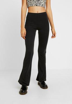 CUPRO FLARE - Pantalones - black
