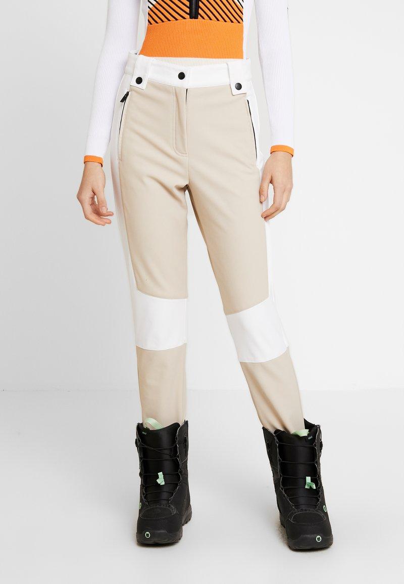 Topshop - SNO ALDRIN - Pantaloni - tan/white