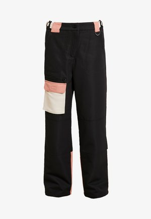 EXC SNO PLANET - Trousers - black/ apricot