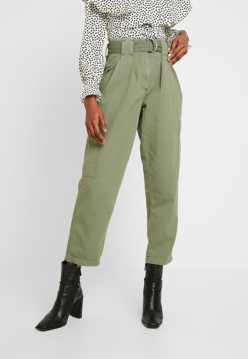 Topshop - NATALIE UTILITY - Trousers - khaki