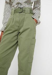 Topshop - NATALIE UTILITY - Trousers - khaki - 4