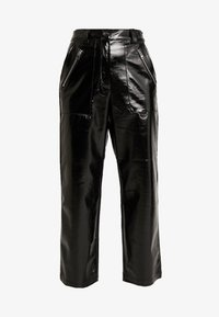 Topshop - STRAIGHT LEG - Pantaloni - black - 4