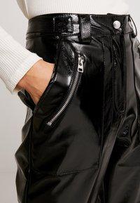Topshop - STRAIGHT LEG - Pantaloni - black - 5