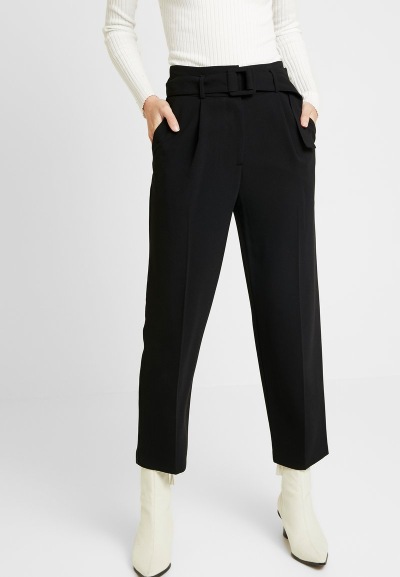 Topshop - SMARTIE BUCKLE PEG - Kalhoty - black