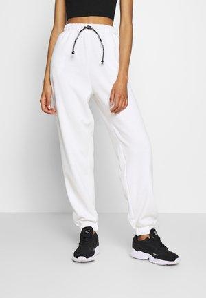 DRAWCORD JOGGER - Pantalon de survêtement - white