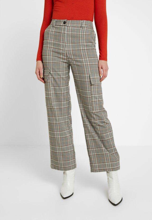 UTILITY POCKET CHECK  - Kalhoty - multi-coloured