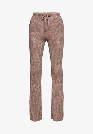 RIB FLARE - Pantaloni - sand
