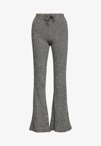 Topshop - TIE RIB MARL FLARE - Kalhoty - charcoal - 3