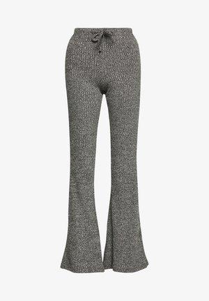 TIE RIB MARL FLARE - Pantaloni - charcoal